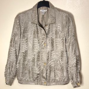 🔵 Vintage Mureli Silk Bomber Jacket